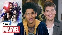Rhenzy Feliz & Gregg Sulkin Answer Your Marvel's Runaways Questions | Ask Marvel