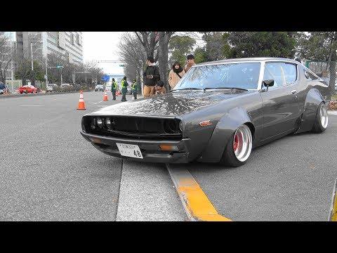 【4K】ニューイヤーミーティング2018~街道レーサー 旧車 族車 チバラギ シャコタン 直管 竹やり コール