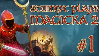 Stumpt Plays - Magicka 2 - Set Ourselves on Fire (4 Player Gameplay)