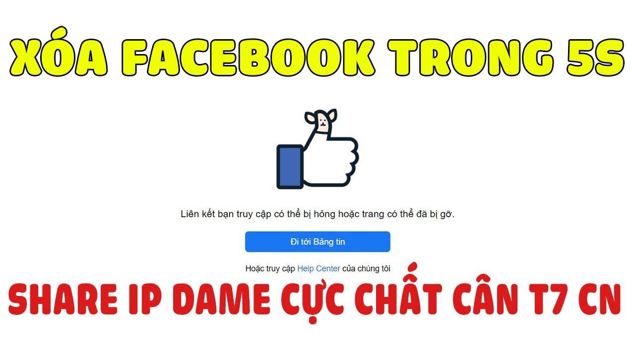 Share Ip Dame 5s Cực Chất Cân T7 CN – Cách Rip Facebook Người Khác Die Cực Nhanh