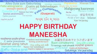 Maneesha   Languages Idiomas - Happy Birthday