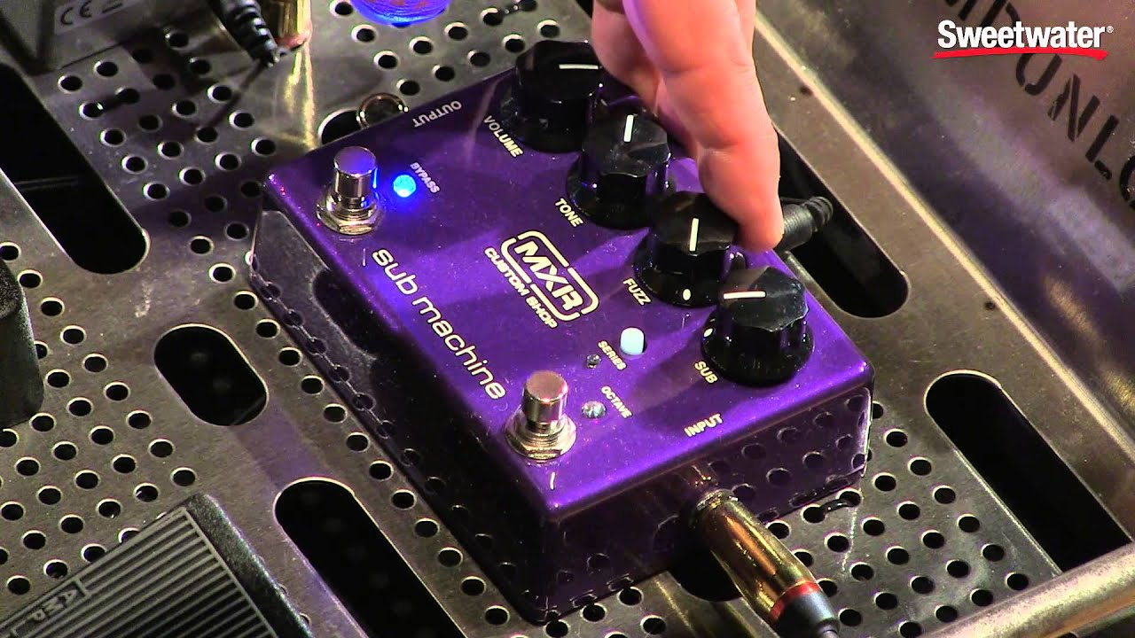 mxr sub machine octave fuzz pedal demo by sweetwater sound youtube. Black Bedroom Furniture Sets. Home Design Ideas