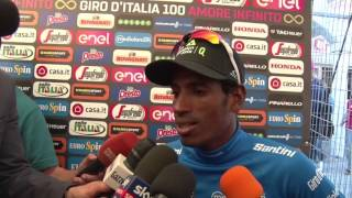 Daniel Teklehaimanot - Post race interview - Stage 2 - Tour of Italy / Giro d'Italia 2017