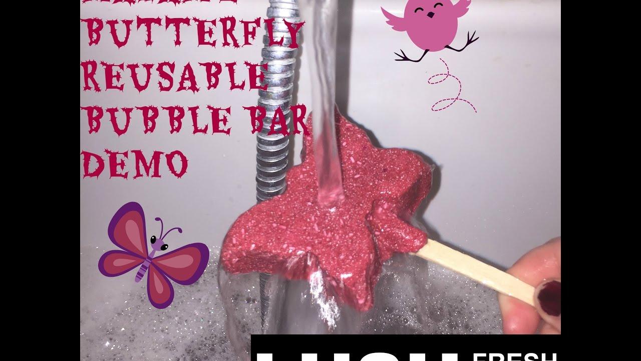 Madame butterfly reusable bubble bar demo/ Lush kitchen ...
