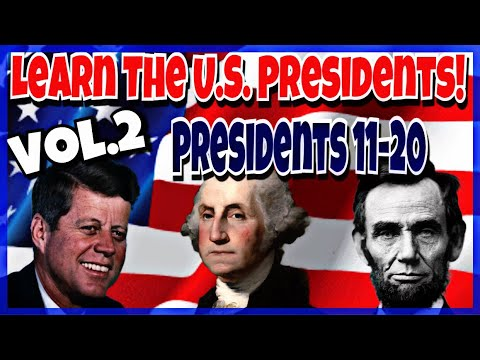 American Presidents In Order | Learn The USA Presidents | Vol.2 Presidents 11-20
