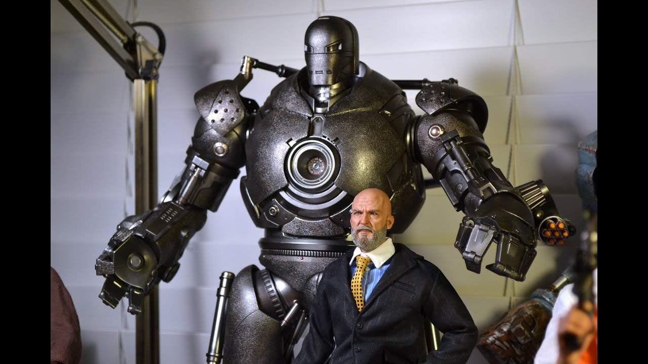 "18"" 1/6 scale Hot Toys IRON MONGER Figure! OBADIAH STANE ..."