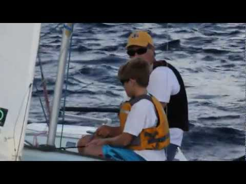 Peter Commette and Alex Commette Go Snipe Sailing in Ft Lauderdale Florida