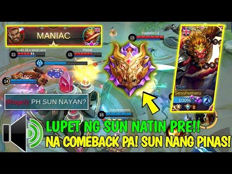 TOP PHILIPPINES SUN KAYA MAG BUHAT KAHIT SA MYTHICAL GLORY!! | OPEN MIC | Supreme No.1 Sun - MLBB