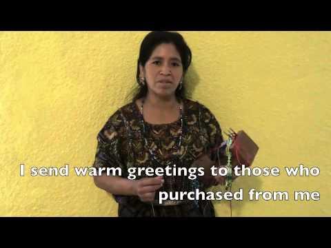 Rosario's Thank You - Guatemala Fair Trade Artisan