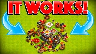 TRAP TROLL BASE STILL WORKS! - Clash of Clans - OUR BEST TROLL BASE EVER!