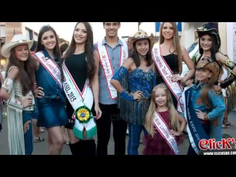 Modelos candidatas a Rainha Mirim ExpoLondrina 2016 Space Show.
