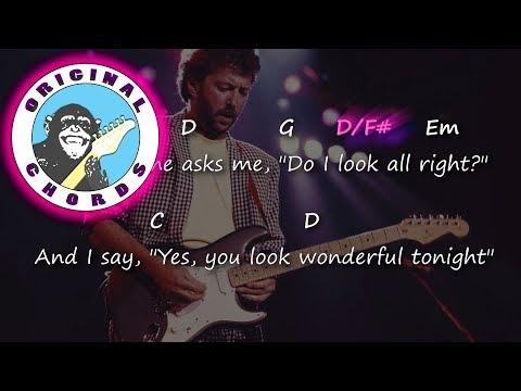 Eric Clapton - Wonderful Tonight - Chords & Lyrics - YouTube