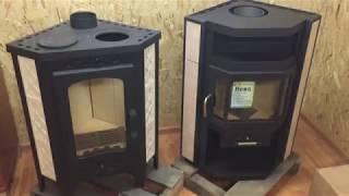 видео Печь-камин Мета с плитой с водяным контуром