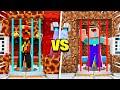 Preston vs Noob1234 TRAPPED in Minecraft Prison Challenge!