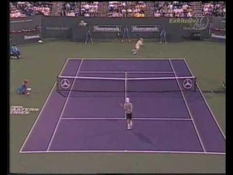 Lleyton Hewitt vs. Andre Agassi (Indian Wells 2001 - Semifinal)