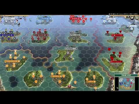 CIV 5 AI Only Alternative History Timelapse Battle - Sid Meier's Civilization V |