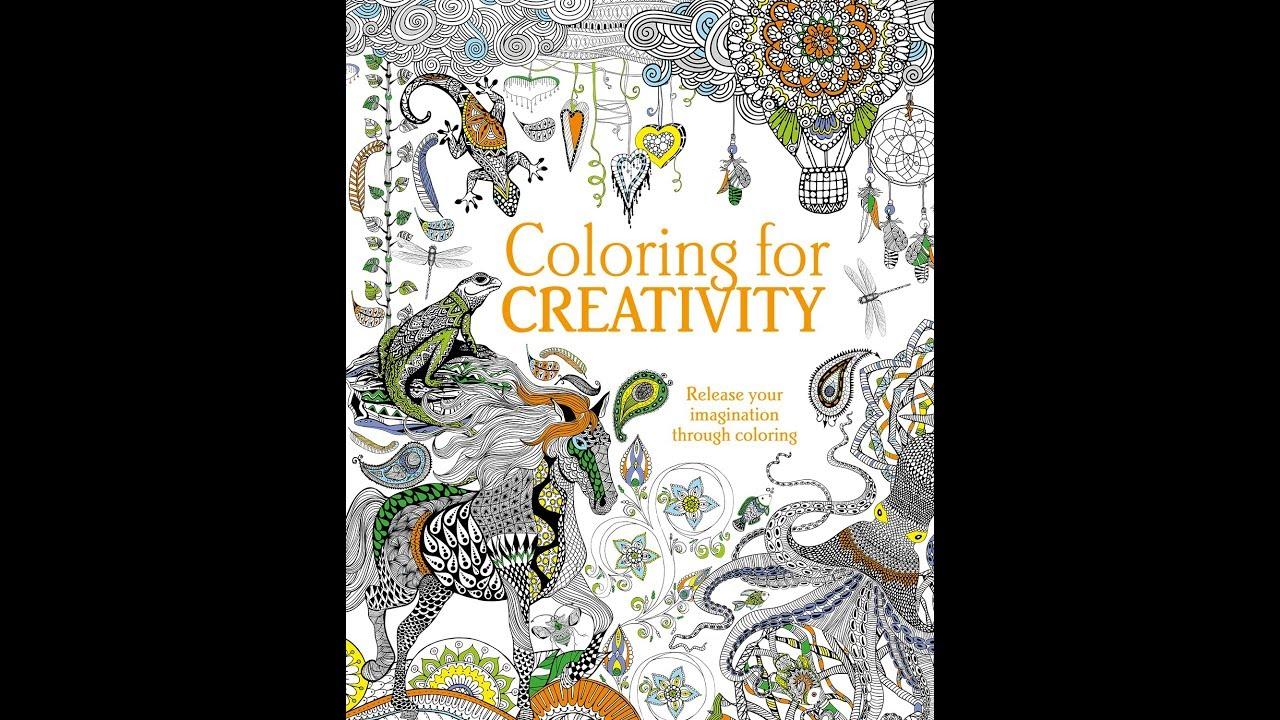 flip through coloring for creativity coloring book