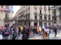 Barcelone : des groupes indépendantistes catalans manifestent lors d'une grève générale