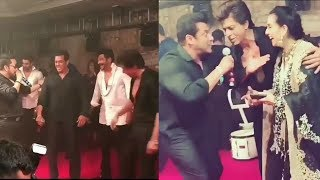 Salman Khan and Shahrukh Khan Dancing and Singing Together in Sonam Reception