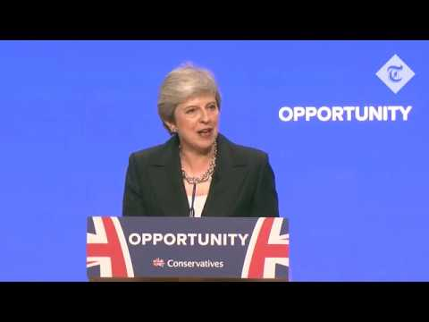 Highlights: Theresa May's Conservative Party Conference speech