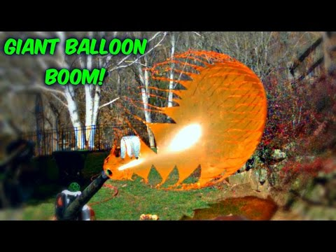 Giant Balloons Pop in Slow Motion