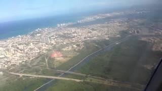 Landing in San Juan, Puerto Rico