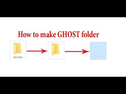 How To Make GHOST Folder/  Invisible Folder