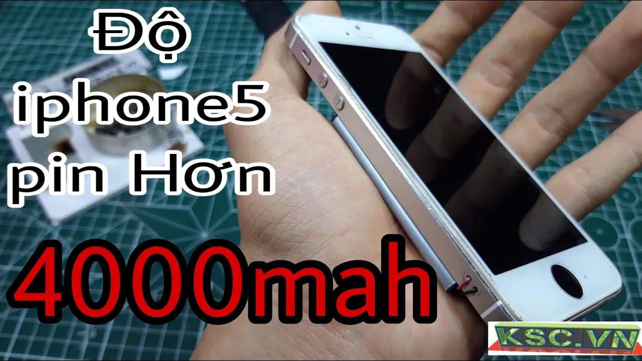 Hướng dẫn độ pin Iphone 5s 4000mah – khi kết hợp pin samsung và smartphone apple iphone