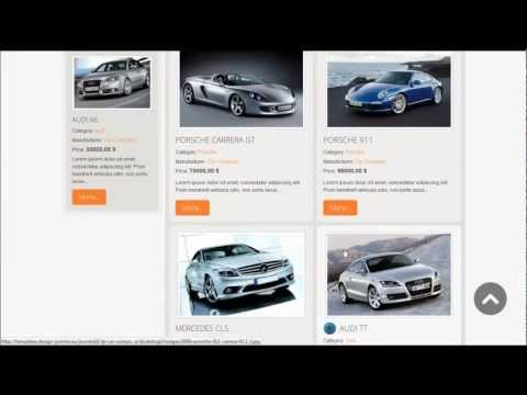 Joomla 3.x / 2.5 Template: DJ Car Company, Responsive Template