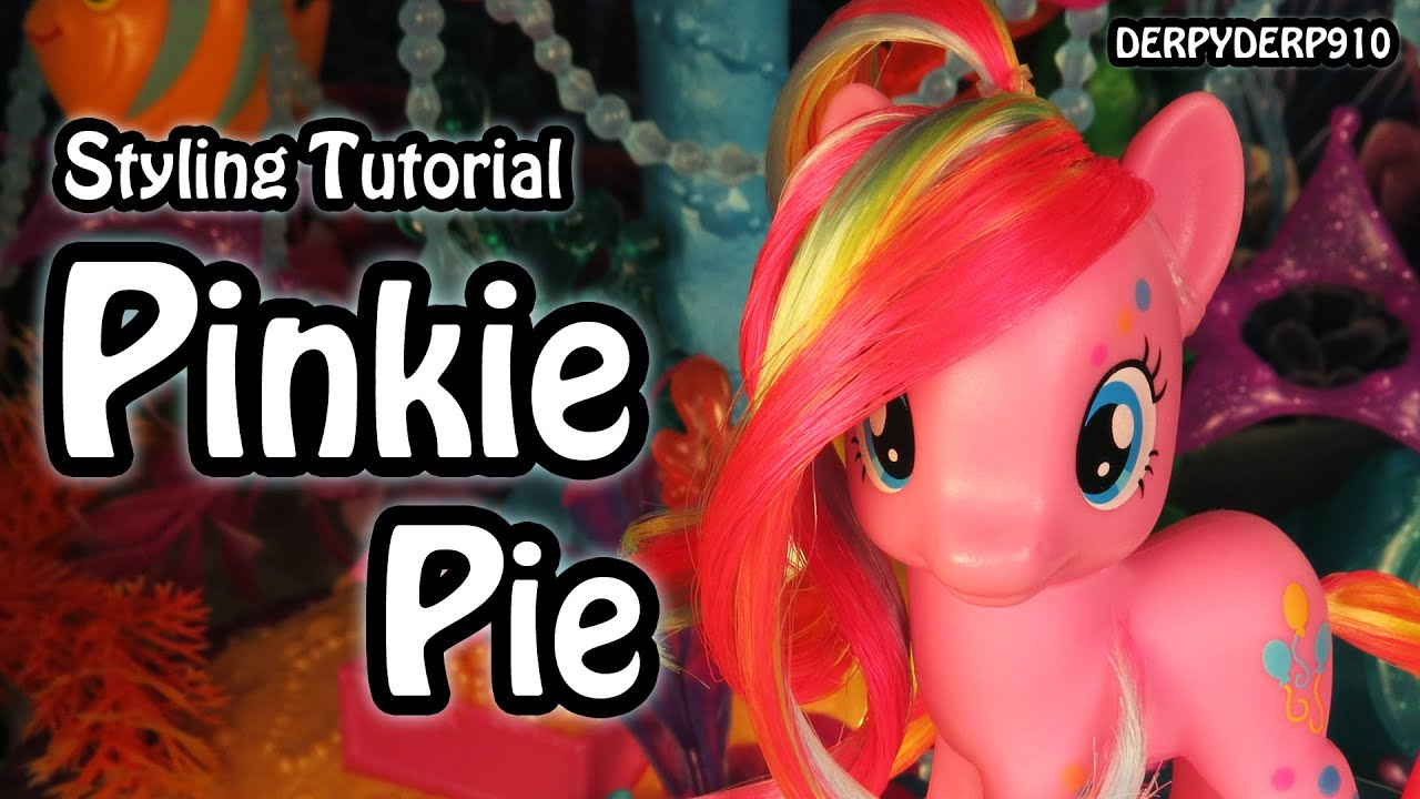 mlp hair styling tutorial my pony pinkie pie neon hair styling 5121
