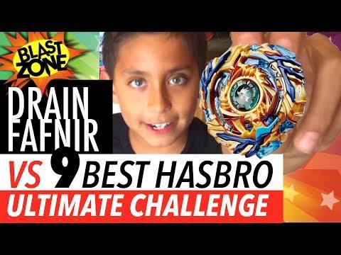 Beyblade Burst Drain Fafnir Vs My 9 Best Hasbro Beyblades! My First Takara Tomy Beyblade Unboxing