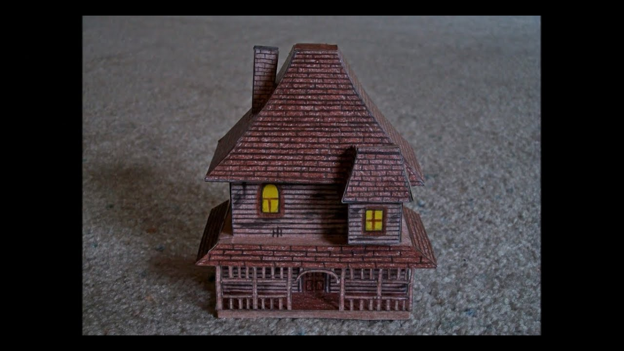 Papercraft Paper Model of the House from the Movie