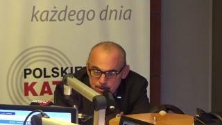 """Kawa na ławę: Alfred Bujara, Przewodniczący Sekcji Krajowej Pracowników Handlu NSZZ """"Solidarność""""."""