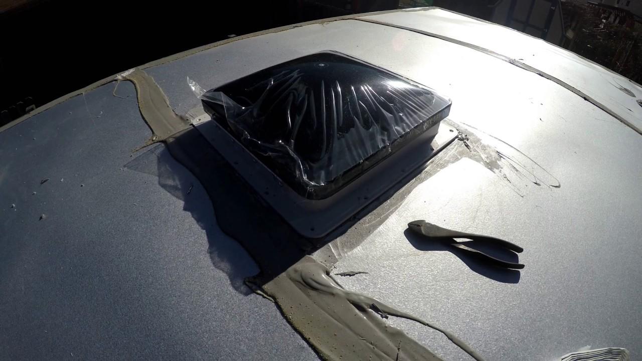 Fantastic Fan Vent Install 6x14 Cargo Trailer Camper
