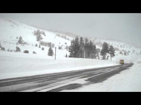 Nevada DOT 6x6 Paystar plowing the summit near Mt. Rose