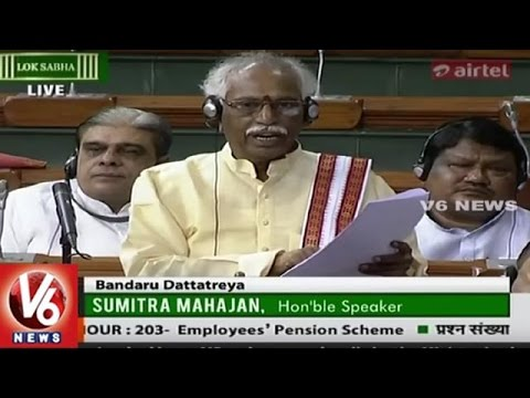 Bandaru Dattatreya About Employees Pension Scheme In Question Hour | Lok Sabha | V6 News