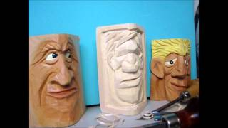 Woodcarving A Face