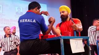 National Armwrestling India 2017 - Senior Men Masters Category