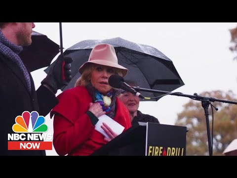 Jane Fonda Celebrates Her 82nd Birthday In Handcuffs After Protesting Climate Change | NBC News NOW
