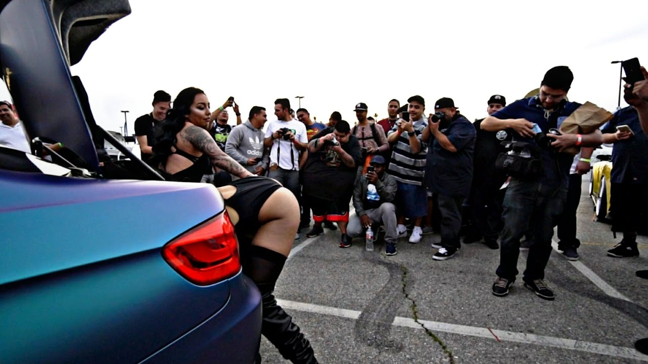 What Women Do At Car Meets! - Racewars Los Angeles 2017