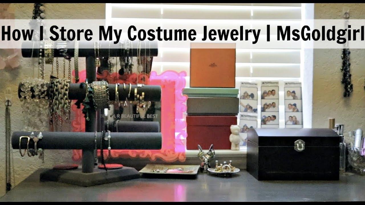 How I Store My Costume Jewelry MsGoldgirl YouTube