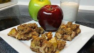 Caramel Apple Pecan Bars / Crumble