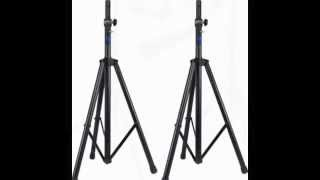 Buy Rockville RVVS3 Pair of Speaker Stands With Pneumatic Air Cushion Lowering Dismounting System W