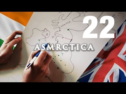 ASMR Drawing Map of Great Britain & Ireland - Soft spoken