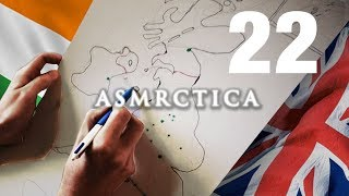 ASMR Drawing Map of the British isles - Learning Geography - Soft Spoken