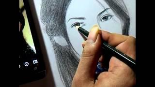 Video Cara Melukis Sket Wajah Wanita dgn Pensil download MP3, 3GP, MP4, WEBM, AVI, FLV Januari 2018