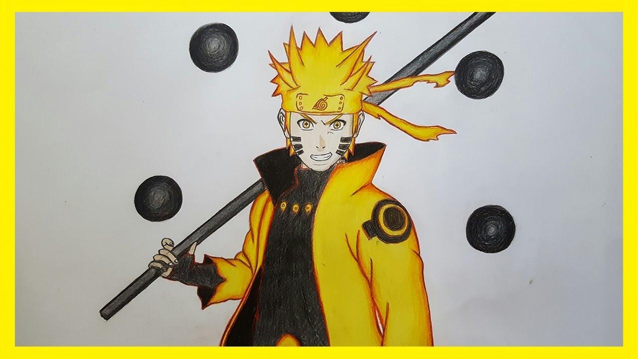 Drawing naruto six paths sage mode