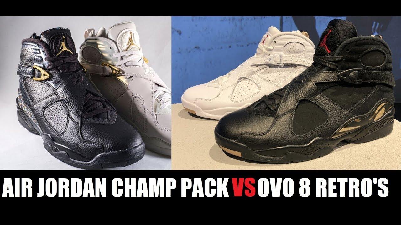 low priced e747a d1b72 Drake Air Jordan 8 OVO VS Confetti Championship VIII Retro Sneaker Pack