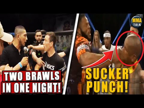 HUGE BRAWL breaks out in Moscow, Hector Lombard GETS INTO BRAWL after BKFC 18 win,Ciryl Gane-Ngannou