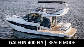 Beach Mode | Galeon 400 FLY | Maneuverability and Modern Design